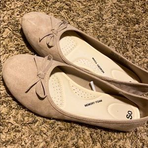 Taupe Bow Flats